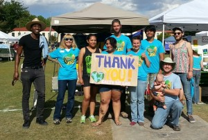 Earth Day 2015 volunteers group shot