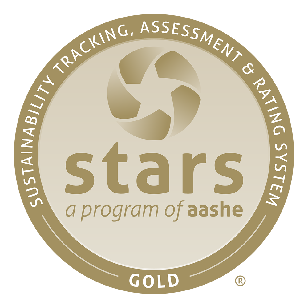 STARS Gold Member - Sustainability Tracking Assessment & Ratings System, a program of AASHE